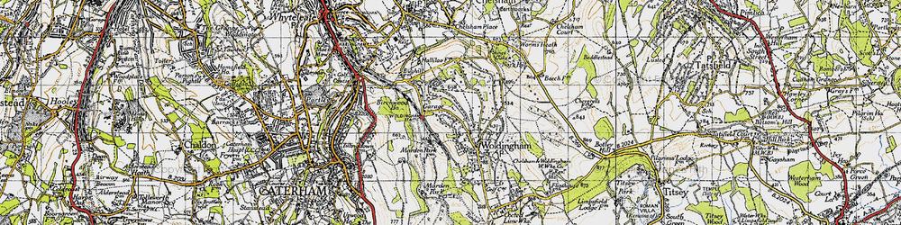 Old map of Woldingham Garden Village in 1946