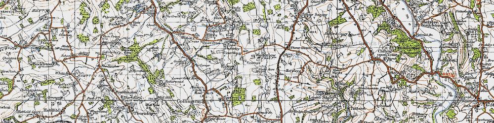 Old map of Wolferlow in 1947