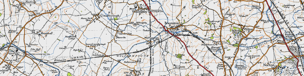 Old map of Wolfhampcote in 1946