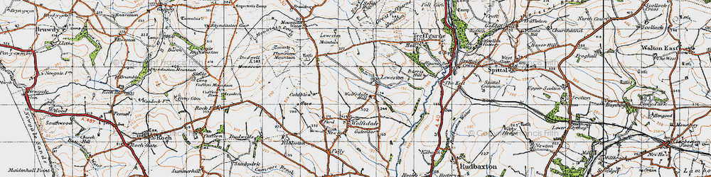 Old map of Wolfsdale Hill in 1946