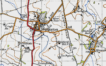Old map of Wollaston in 1946