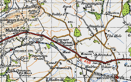 Old map of Wollaston in 1947