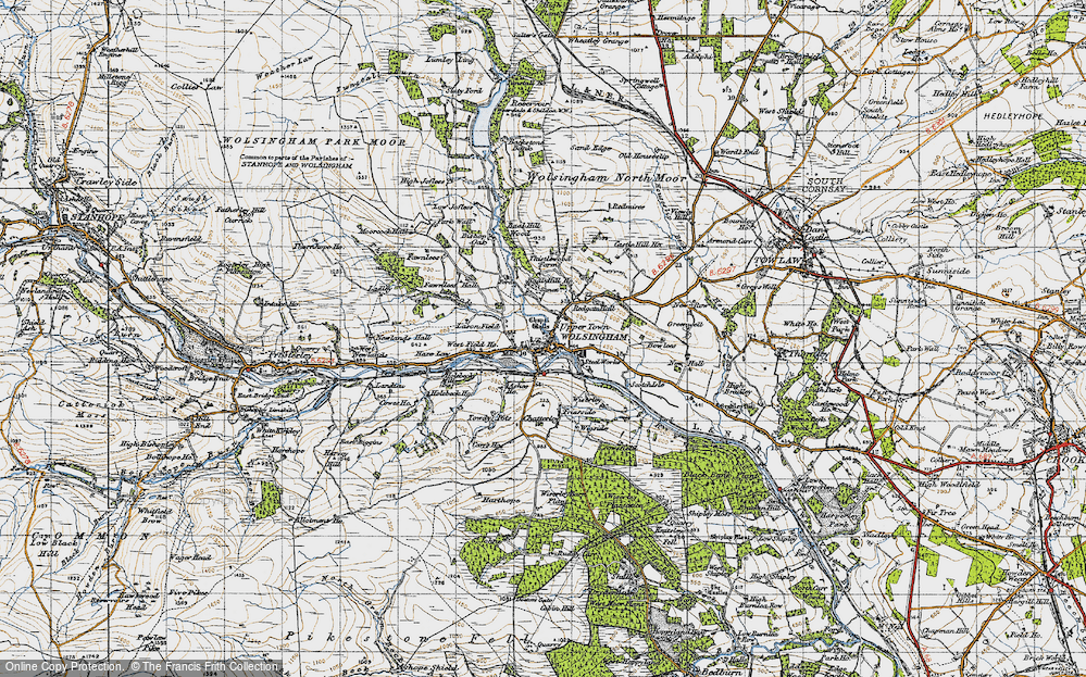 Old Map of Wolsingham, 1947 in 1947