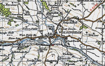 Old map of Lason Field in 1947