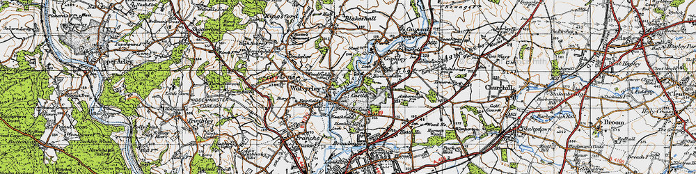 Old map of Wolverley in 1947