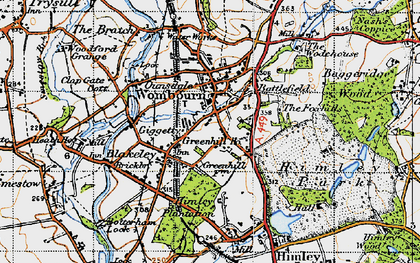Old map of Wombourne in 1946
