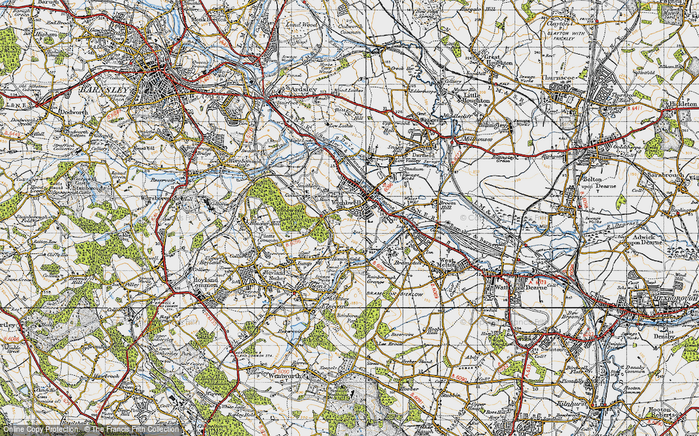 Old Map of Wombwell, 1947 in 1947