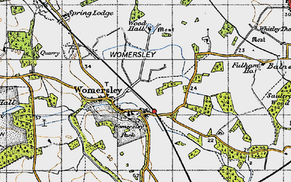 Old map of Wormesley Park in 1947