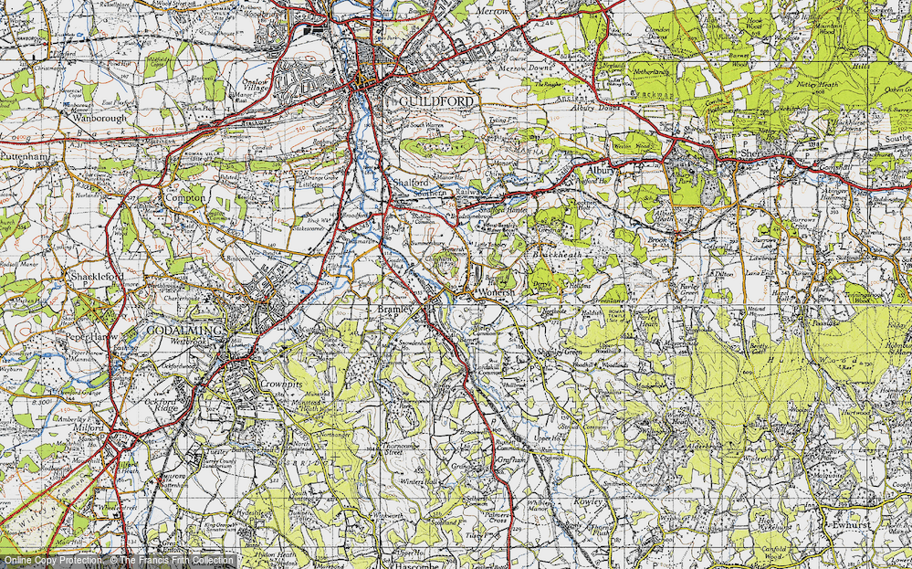 Old Map of Wonersh, 1940 in 1940