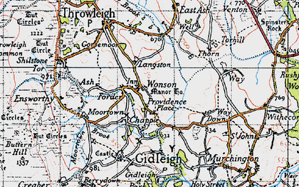 Old map of Wonson in 1946