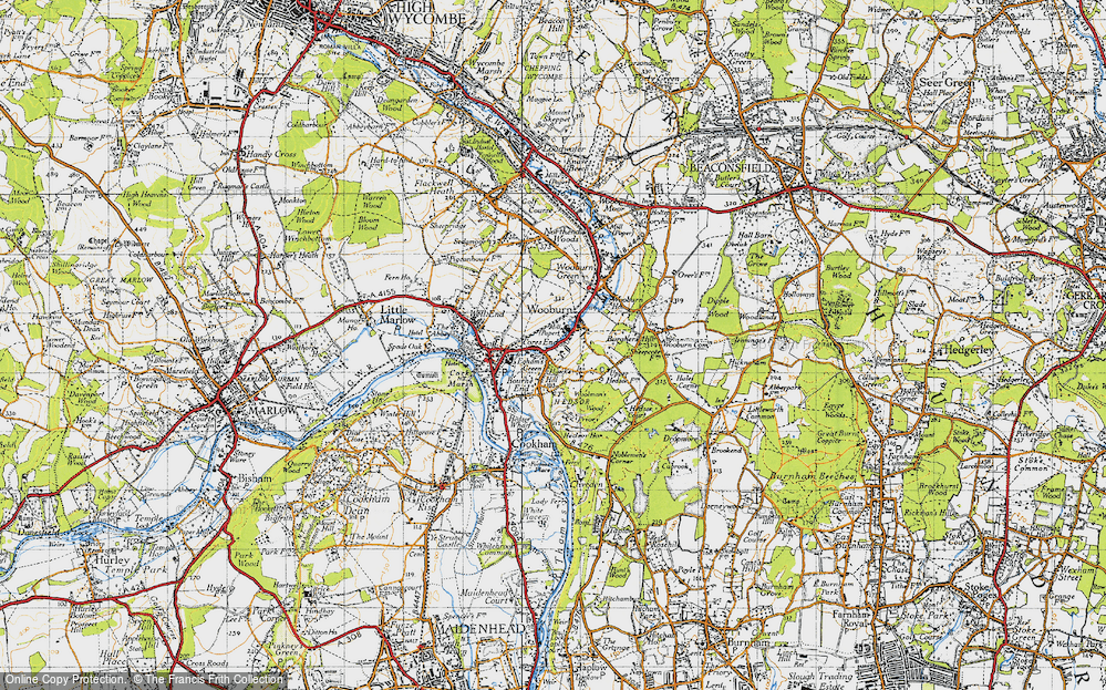 Old Map of Wooburn, 1945 in 1945