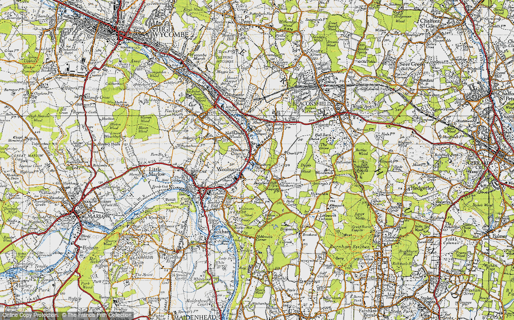 Old Map of Wooburn Green, 1945 in 1945