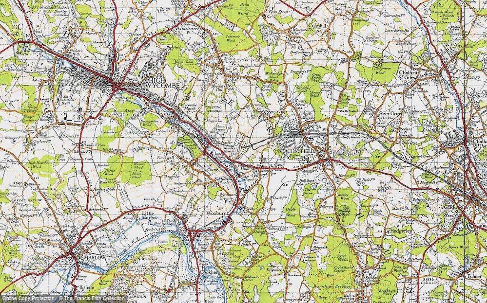 Old Map of Wooburn Moor, 1945 in 1945