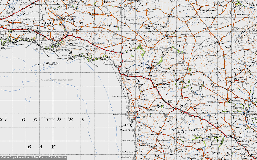 Old Map of Wood, 1946 in 1946