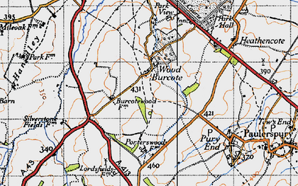 Old map of Wood Burcote in 1946