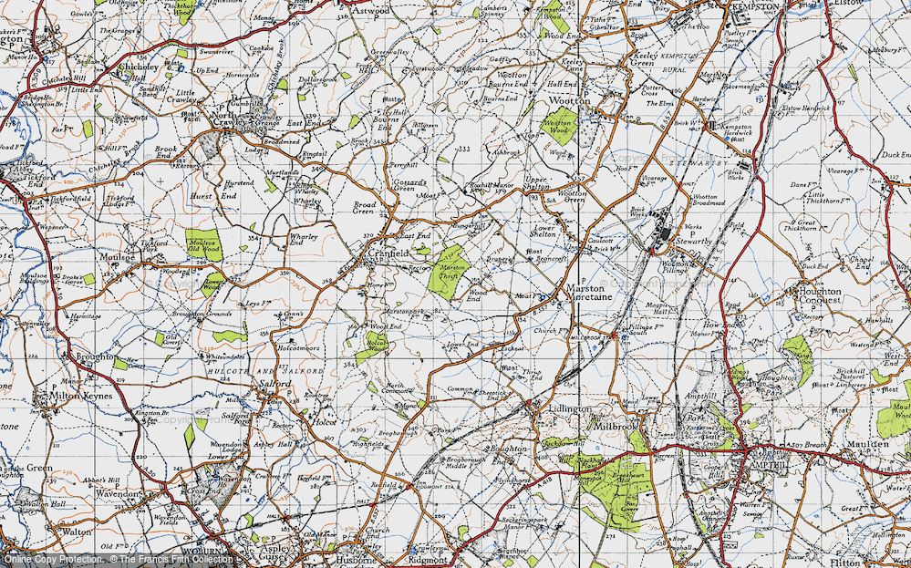 Old Map of Wood End, 1946 in 1946