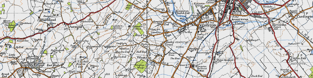 Old map of Wood End in 1946