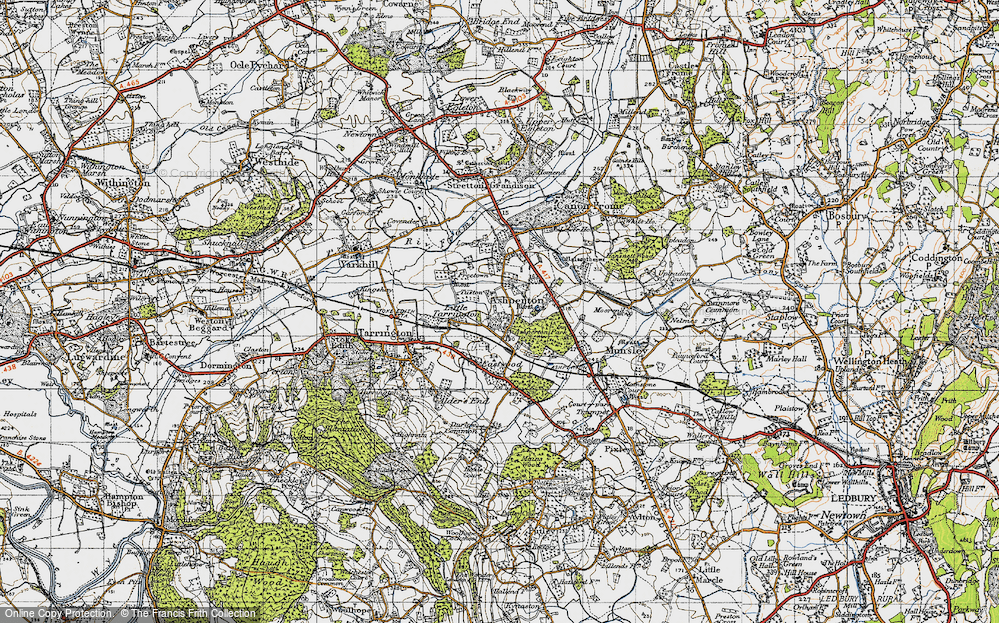 Old Map of Wood End, 1947 in 1947