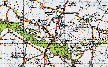 Old map of Wood Gate in 1946