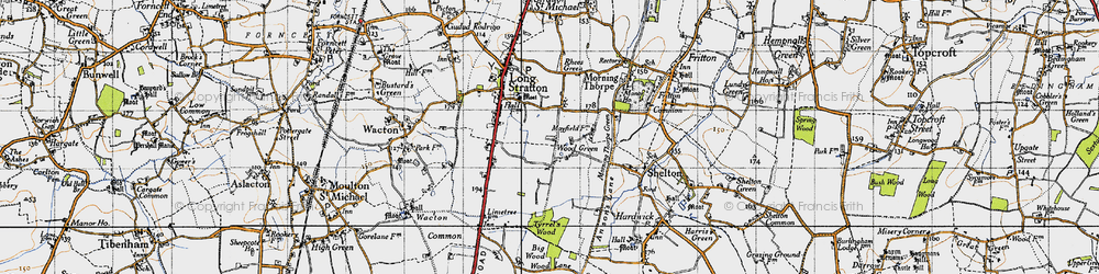 Old map of Wood Green in 1946