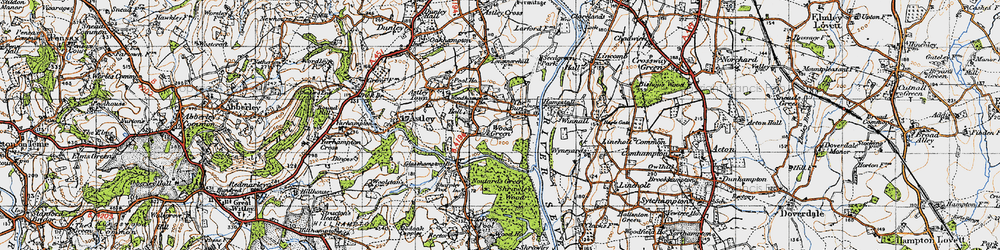 Old map of Woodhampton Ho in 1947