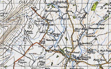 Old map of Laythams in 1947