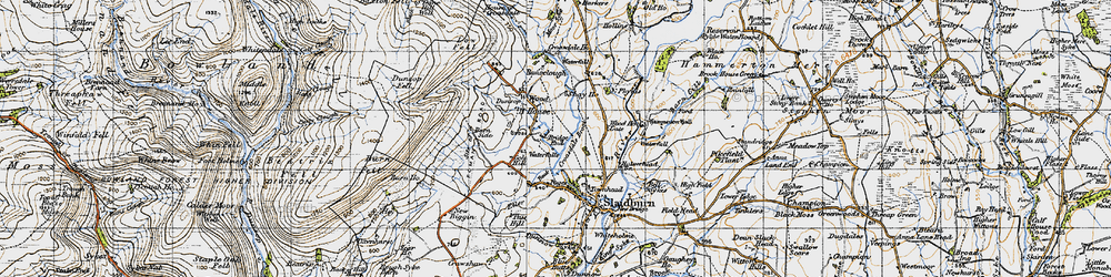 Old map of Wood House in 1947