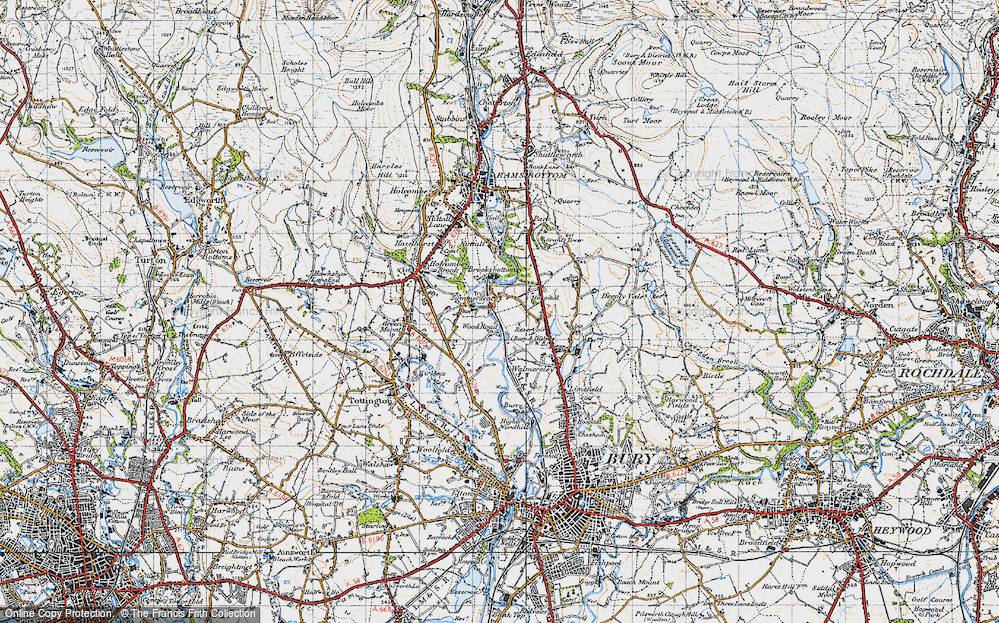 Old Map of Wood Road, 1947 in 1947