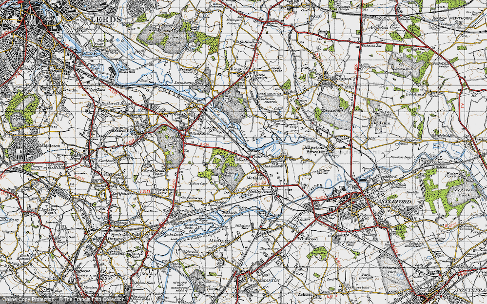 Old Map of Wood Row, 1947 in 1947