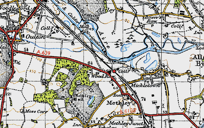 Old map of Wood Row in 1947