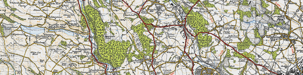 Old map of Wood Seats in 1947