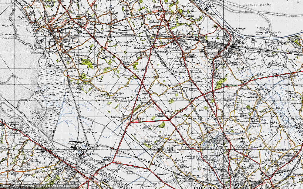 Old Map of Woodbank, 1947 in 1947
