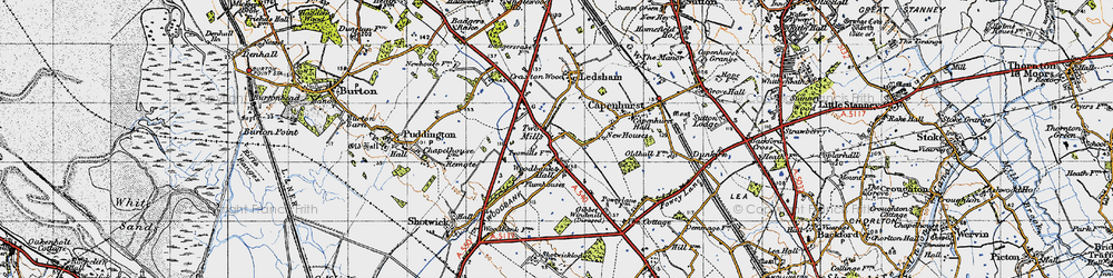Old map of Woodbank in 1947