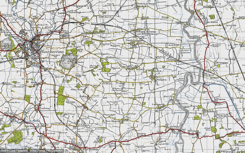 Old Map of Woodbeck, 1947 in 1947