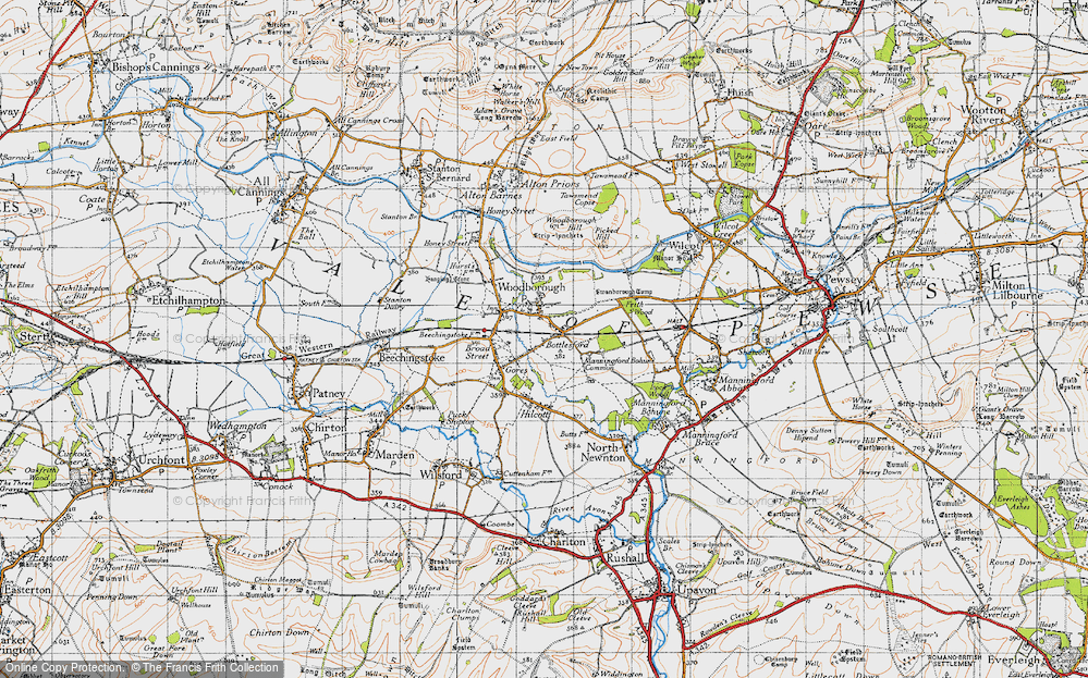 Old Map of Woodborough, 1940 in 1940