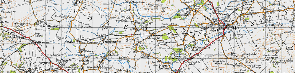 Old map of Woodborough in 1940