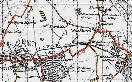 Old map of Woodbridge in 1947
