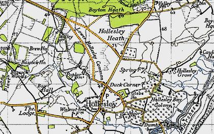 Old map of Woodbridge Walk in 1946