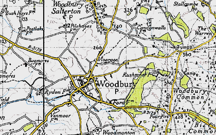 Old map of Woodbury Common in 1946