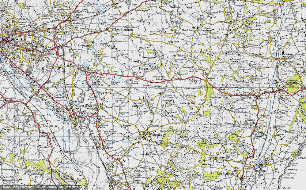 Old Map of Woodbury Salterton, 1946 in 1946