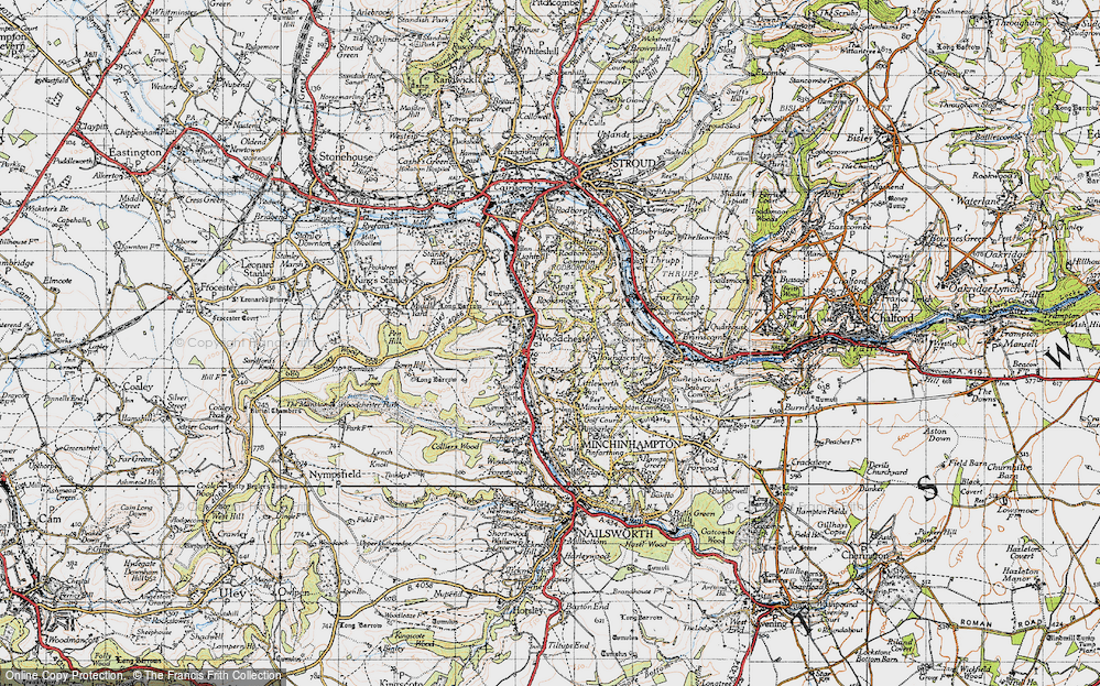 Old Map of Woodchester, 1946 in 1946