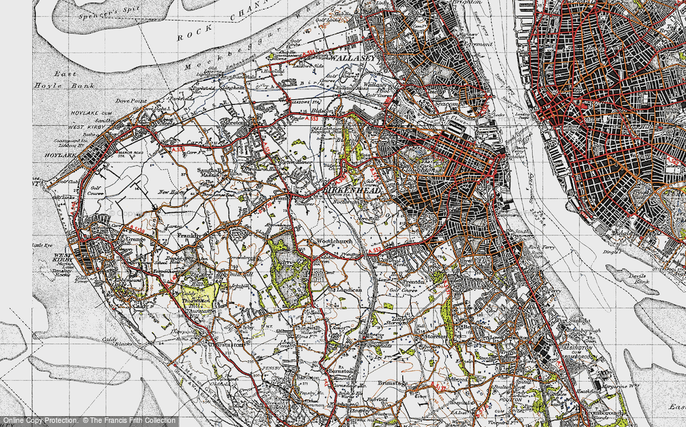 Old Map of Woodchurch, 1947 in 1947