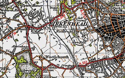 Old map of Woodchurch in 1947