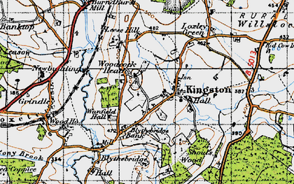 Old map of Woodcock Heath in 1946