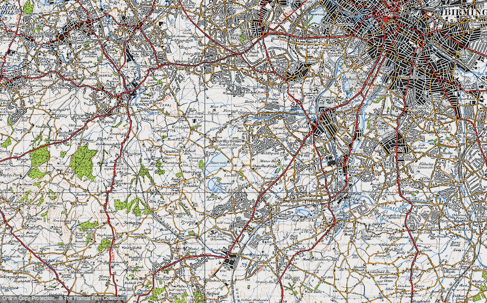 Old Map of Woodcock Hill, 1947 in 1947