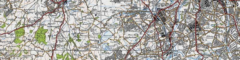 Old map of Woodcock Hill in 1947