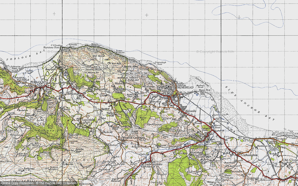 Old Map of Woodcombe, 1946 in 1946