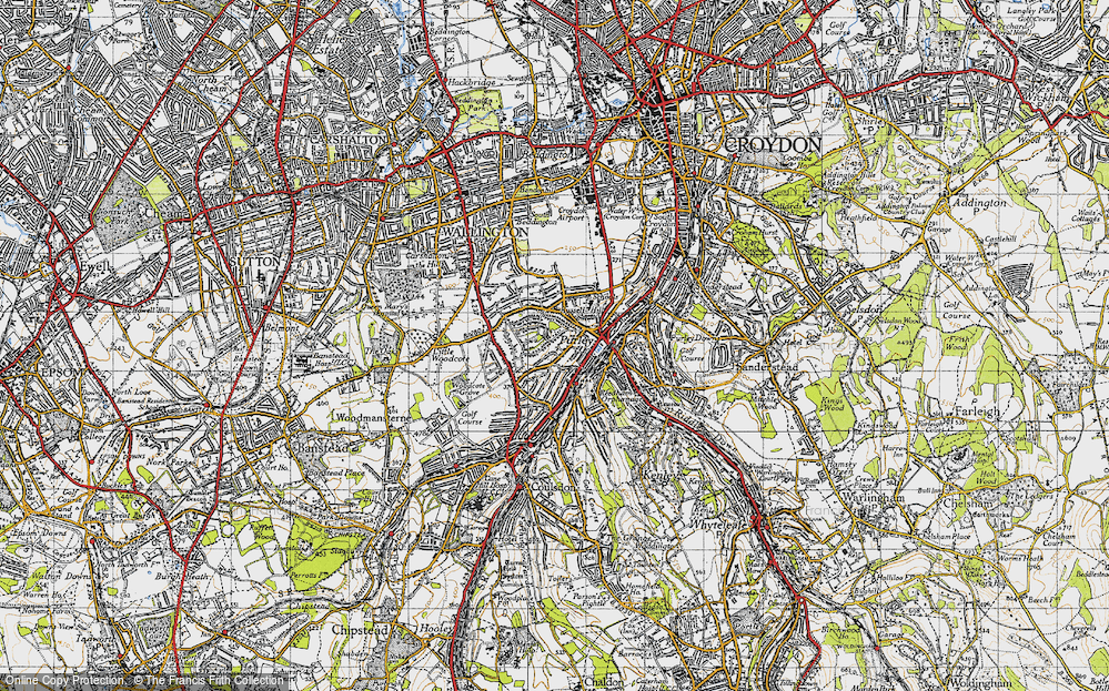 Old Map of Woodcote, 1945 in 1945