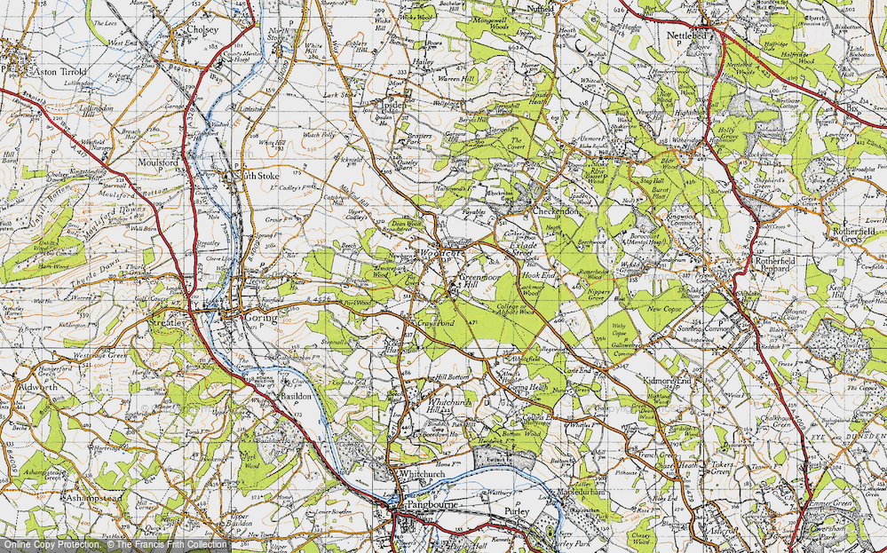 Old Map of Woodcote, 1947 in 1947