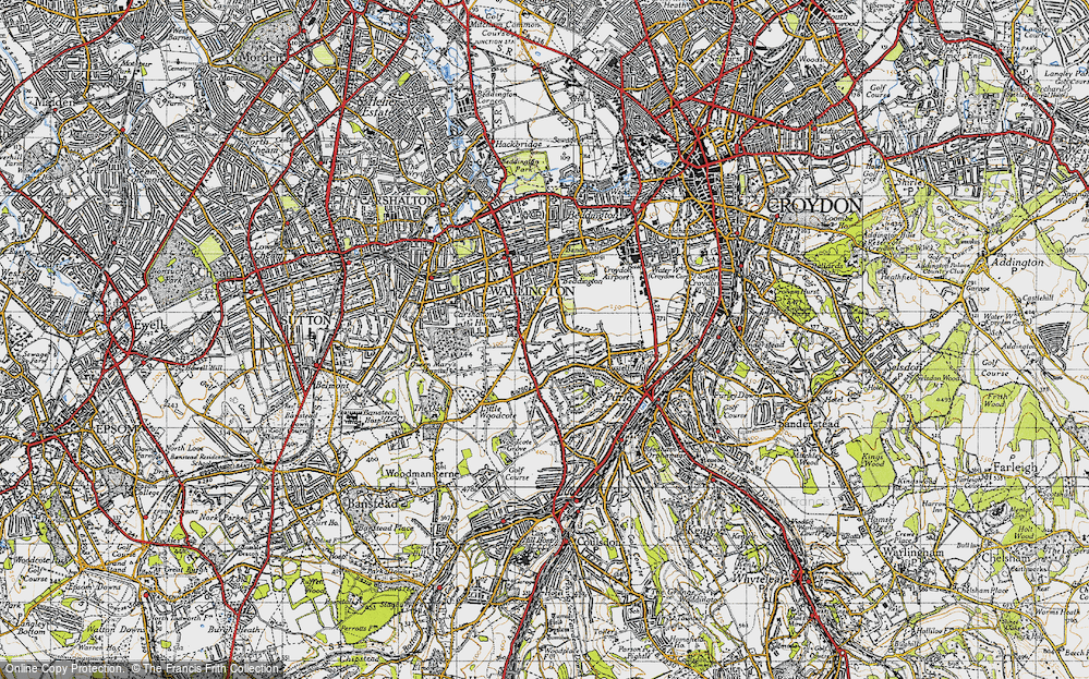 Old Map of Woodcote Green, 1945 in 1945